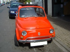 Fiat 500 1973 as paint job and restoration two pictures