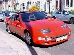 Nissan 300ZX Fairlady.Single picture in Red with the sun reflected of the finished paint job.
