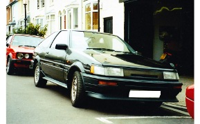 Side View Black Corrolla GT Coupe AE86